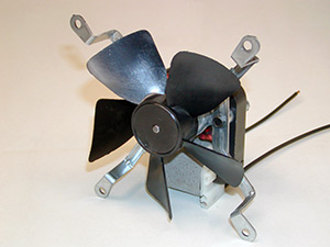 Fan blade used with shaded pole motors for in home appliances and products